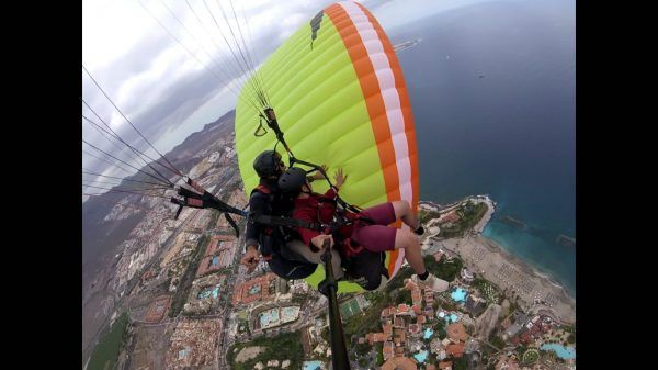 Paragliding Experience Water Sport Tenerife. Cheap Excursions. Fly & fun