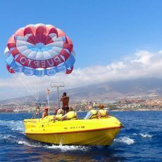 Parasending Water-Air Sport Tenerife. Cheap Excursions. Adrenaline & fun