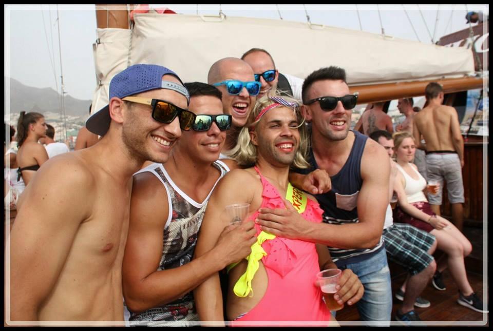 Shogun Love Ibiza Boat Party Tenerife. Cheap barbecue, open bar, DJs